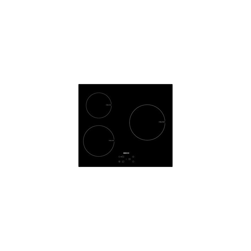 plaque induction beko 3 foyers auto adaptables 5900w noir ged planet menager. Black Bedroom Furniture Sets. Home Design Ideas