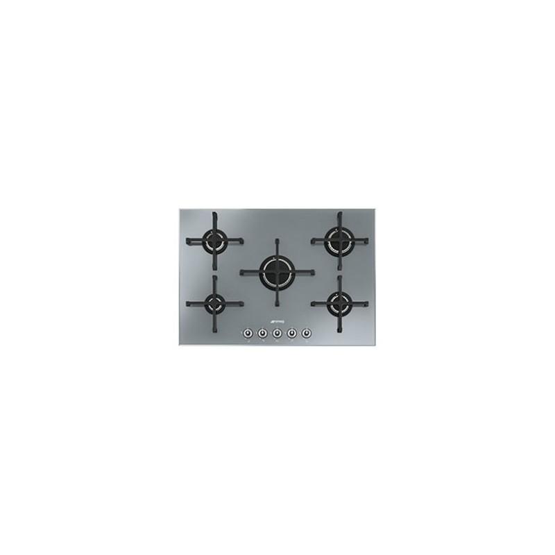Plaque gaz verre grande largeur smeg 5g silver ged for Plaque de cuisson grande largeur
