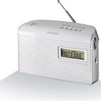 RADIO GRUNDIG DIGITALE FM RDS PILES/SECTEUR FONCTION TIMER BLANC