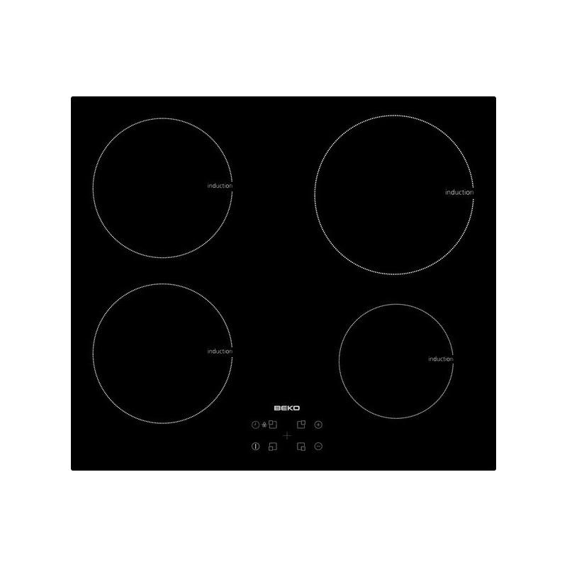plaque induction beko 4f 7200w noir ged planet menager. Black Bedroom Furniture Sets. Home Design Ideas