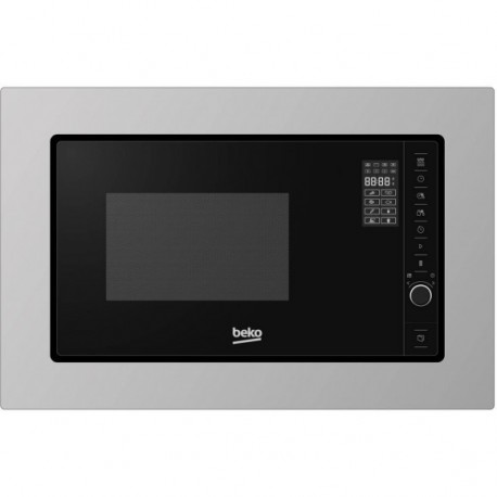 micro ondes 38 cm beko 20l 800w inox anti trace ged. Black Bedroom Furniture Sets. Home Design Ideas