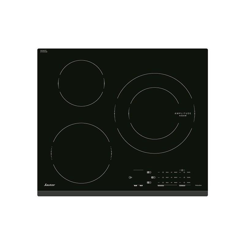 Plaque induction sauter 3 foyers noir ged planet menager - Plaque induction 3 foyers ...