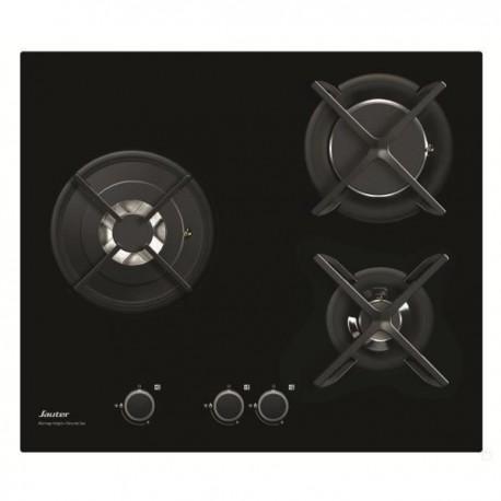 plaque gaz verre sauter 3 gaz noire ged planet menager. Black Bedroom Furniture Sets. Home Design Ideas