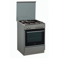 CUISINIERE MIXTE 3+1 WHIRLPOOL FOUR MULTIFONCT CATALYSE MIROIR/INOX