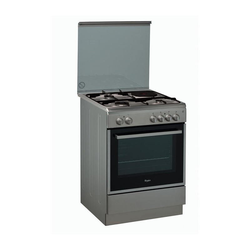 CUISINIERE MIXTE 3+1 WHIRLPOOL FOUR MULTIFONCT CATALYSE MIROIR ...