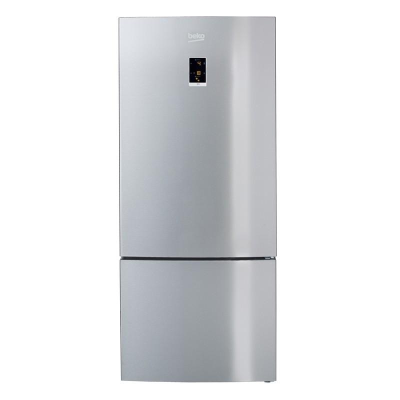 Refrigerateur Combine Beko 497l 400l 97l 74cm No Frost A Silver Ged Planet Menager