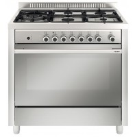 CENTRE DE CUISSON SMEG  5 GAZ FOUR CATALYSE 98L B INOX