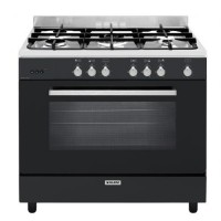 CENTRE DE CUISSON GLEM 5GAZ FOUR CATALYSE 132L B BLACK PEARL