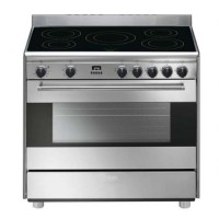 CENTRE DE CUISSON SEMI PRO SMEG 5 INDUCTION FOUR 115L MANUEL  B INOX