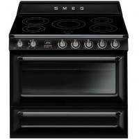 CENTRE DE CUISSON SMEG 5 INDUCTION FOUR CATALYSE 115L B NOIR