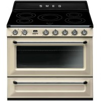CENTRE DE CUISSON SMEG 5F INDUCTION FOUR CATALYSE 115L B CREME