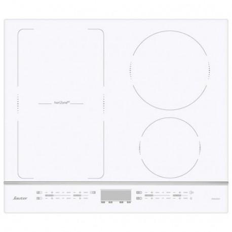 plaque induction sauteur 2 foyers 1 zone modulable blanc. Black Bedroom Furniture Sets. Home Design Ideas