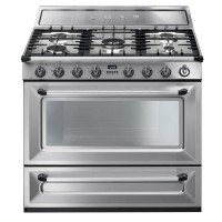 CENTRE DE CUISSON 5 GAZ SMEG MONO FOUR 115L CATALYSE B INOX