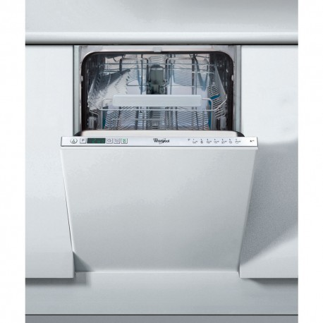 lave vaisselle whirlpool 45cm full integrable 10cvts 45db a++a - ged