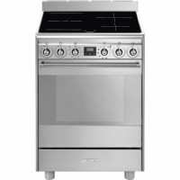 CUISINIERE SMEG 4 F INDUCTION FOUR PYROLYSE 70L A INOX