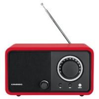 RADIO DE SALON GRUNDIG FM TUNER ANALOGIQUE  5W SECTEUR ROUGE LAQUE